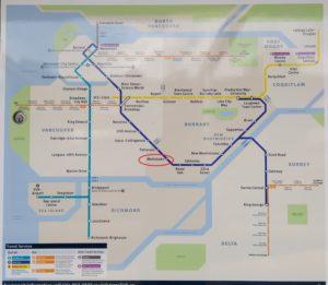 スカイトレインのマップ