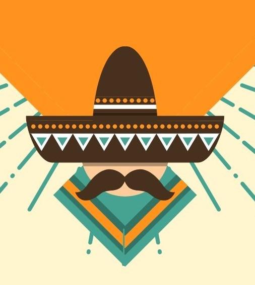 メキシカンハットを被った男性