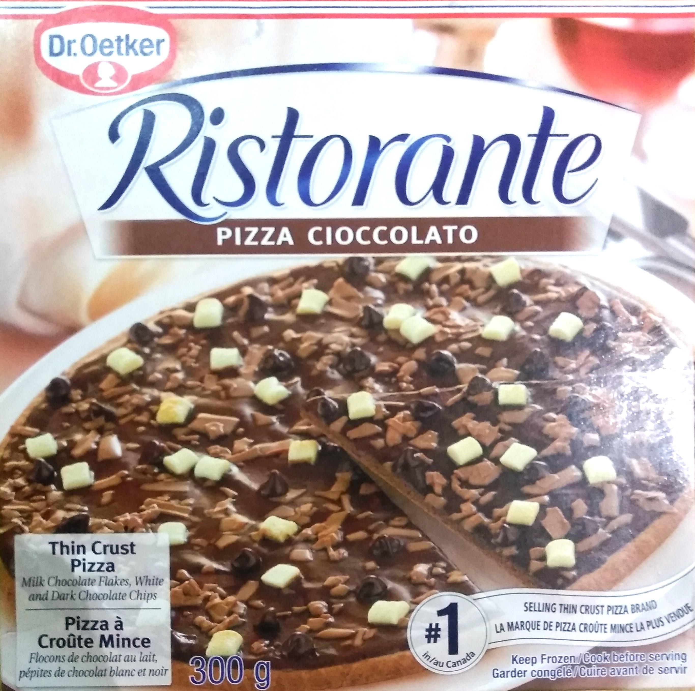 チョコレートピザのパッケージの写真