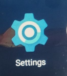 携帯電話のsettingsをクリックする画面