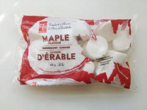 カナダで購入したメープル味のマシュマロの写真